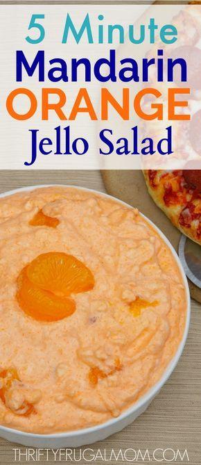 5 minute mandarin orange jello salad recipe jello salads rh pinterest com