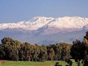 Mount Hermon this is where the angels fell and sweared an oath.