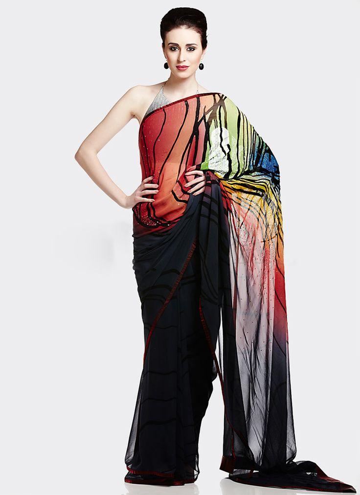 Satya Paul Indian Designer Saree Designs Collection 2015 2016