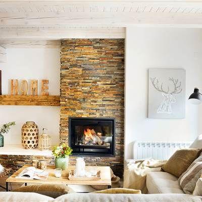 17 mejores ideas sobre chimeneas de piedra en pinterest chimeneas chimeneas de piedra - Embocadura chimenea ...
