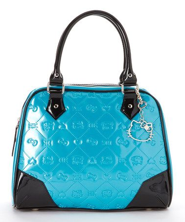 Loving this Teal Embossed Patent Hello Kitty Shoulder Bag on #zulily! #zulilyfinds
