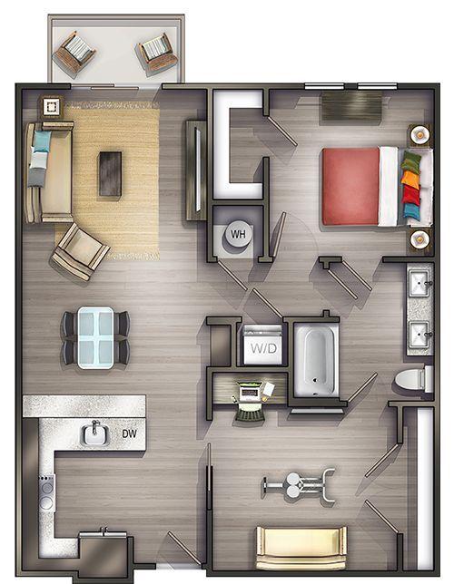Three Bedroom Apartment Layout