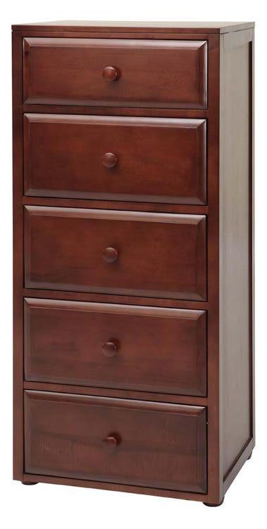 Basic 5 (1/2) Drawer Dresser by Maxtrix Kids (shown in chestnut) www.sweetretreatkids.com #sweetretreatkids #kidsdresser #kidsstorage #kidschest  #5drawerdresser #maxtrixdresser #chestnutdresser