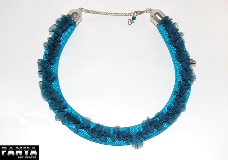 """Statement necklace """"Antoinette"""" made by paracords"""