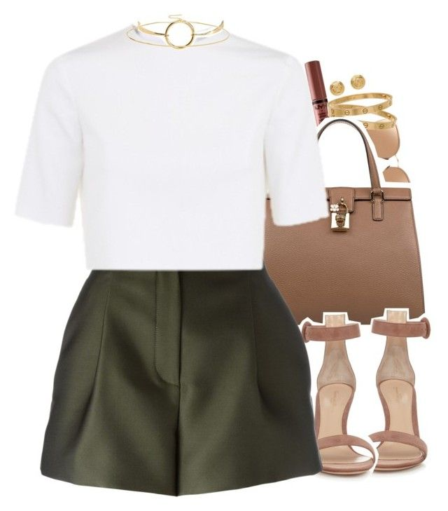 """X bit."" by daisym0nste ❤ liked on Polyvore featuring NYX, Linda Farrow, Cartier, Dolce&Gabbana, Gianvito Rossi, Versace, Charlie May, MANIAMANIA and ASOS"