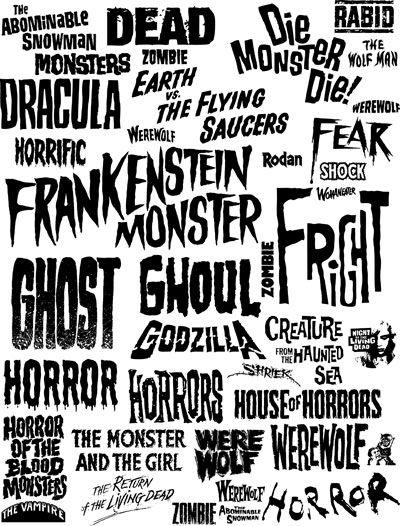 Horror movie fonts