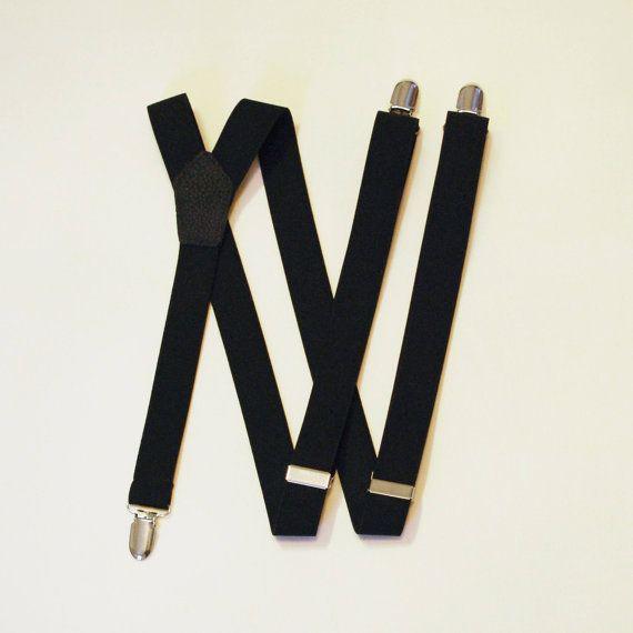 Black on Black suspenders  braces by CivicTrust on Etsy, $28.00
