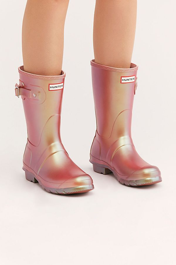 e7a1ab953 Slide View 1: Hunter Short Nebula Wellies. Hunter Short Nebula Wellies |  Free People Cute Rain Boots ...