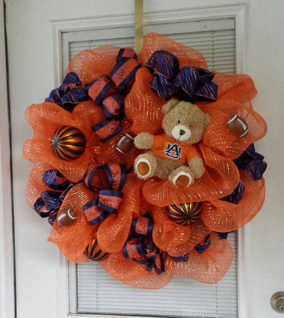 Auburn wreath by ForeverBFs on Etsy, $68.95