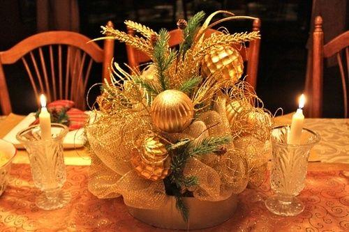 Top 100 Christmas TableDecorations - Deco Mesh & Mercury Glass Ornaments
