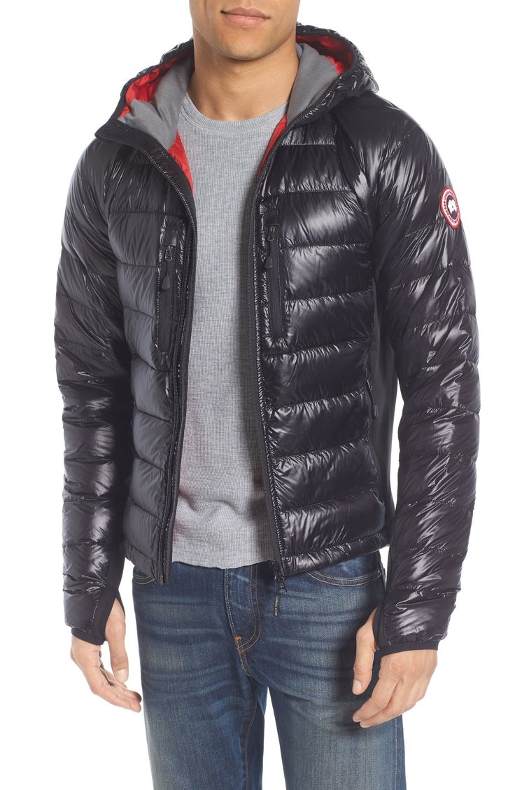 New Canada Goose 'Hybridge Lite Hoody' Slim Fit Packable Jacket ,NAVY fashion online. [$575]newtopfashion top<<