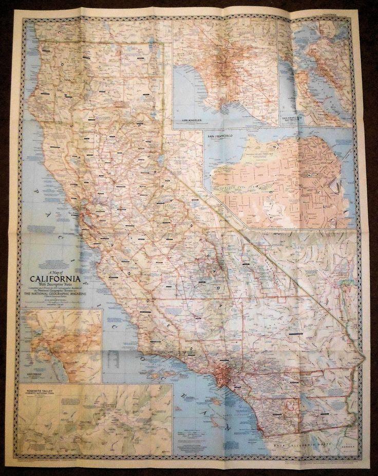Map Of Oregon Highways%0A Nat  Geographic California       Vintage MagazinesPortland OregonSheet Music MapsCaliforniaAntique