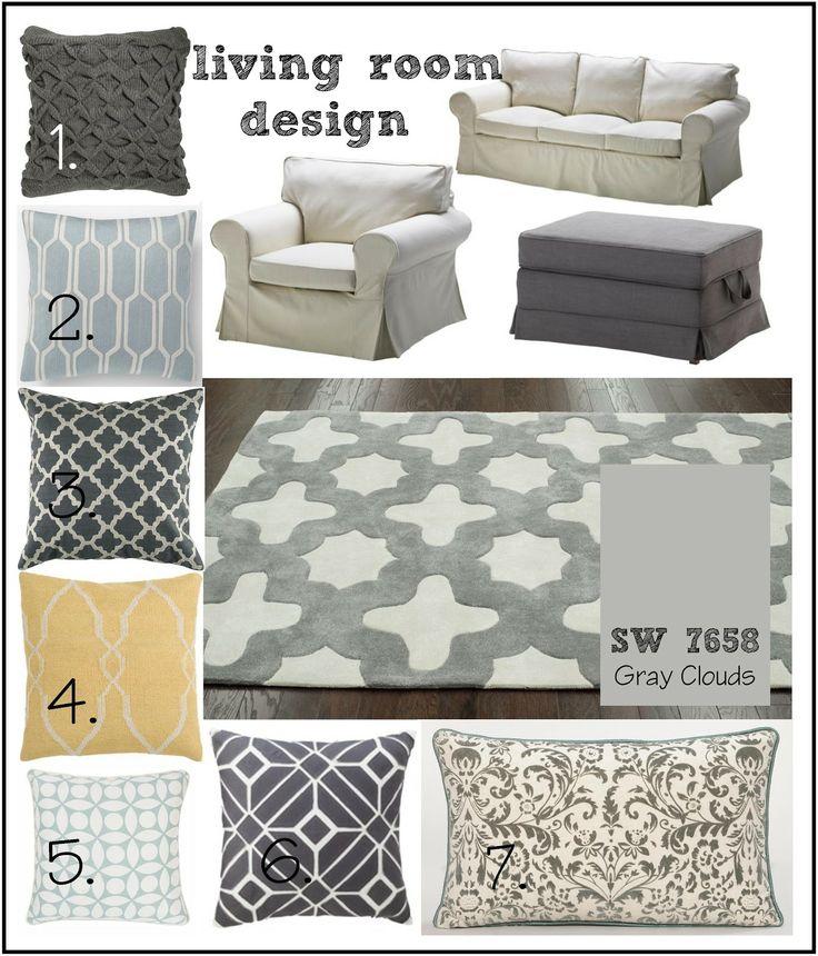lot 23: living room inspiration (grey, blue, navy, yellow)