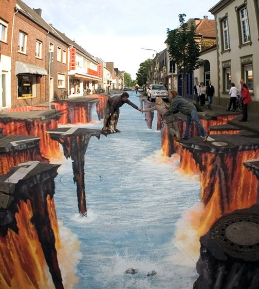 Street Art Illusions. No words to describe the sheer beauty and talent <3 <3