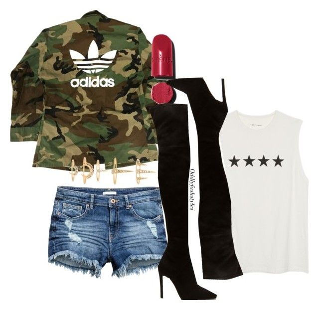 """""""Untitled #120"""" by oddlyfashionable on Polyvore featuring adidas, Chanel and Luv Aj"""