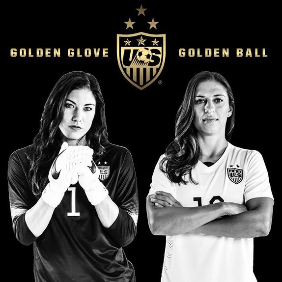 Hope Solo (best goalkeeper in the World Cup) and Carli Lloyd (best player in the…