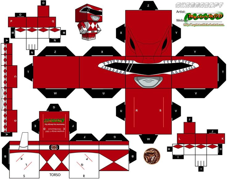 Red Power Ranger Cubee