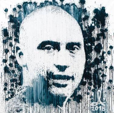 "Saatchi Art Artist Andrzej Lenard; Painting, ""Derek Jeter portrait painted with…"