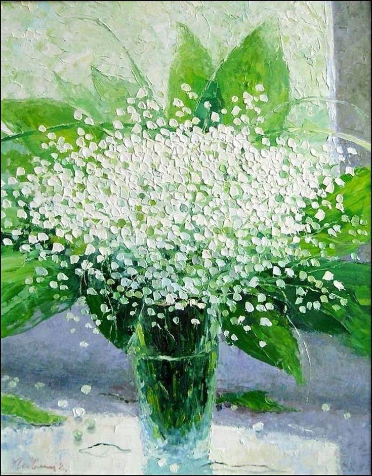 Le premier Mai - muguet en peinture - Eugene Gavlin (1958)