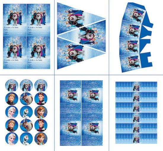 Fiestas Infantiles 161 Kit De Frozen Para Imprimir Gratis