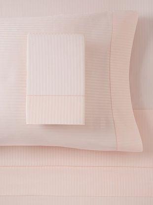 65% OFF 300 TC Satin Stripe Sheet Set, Rose, King