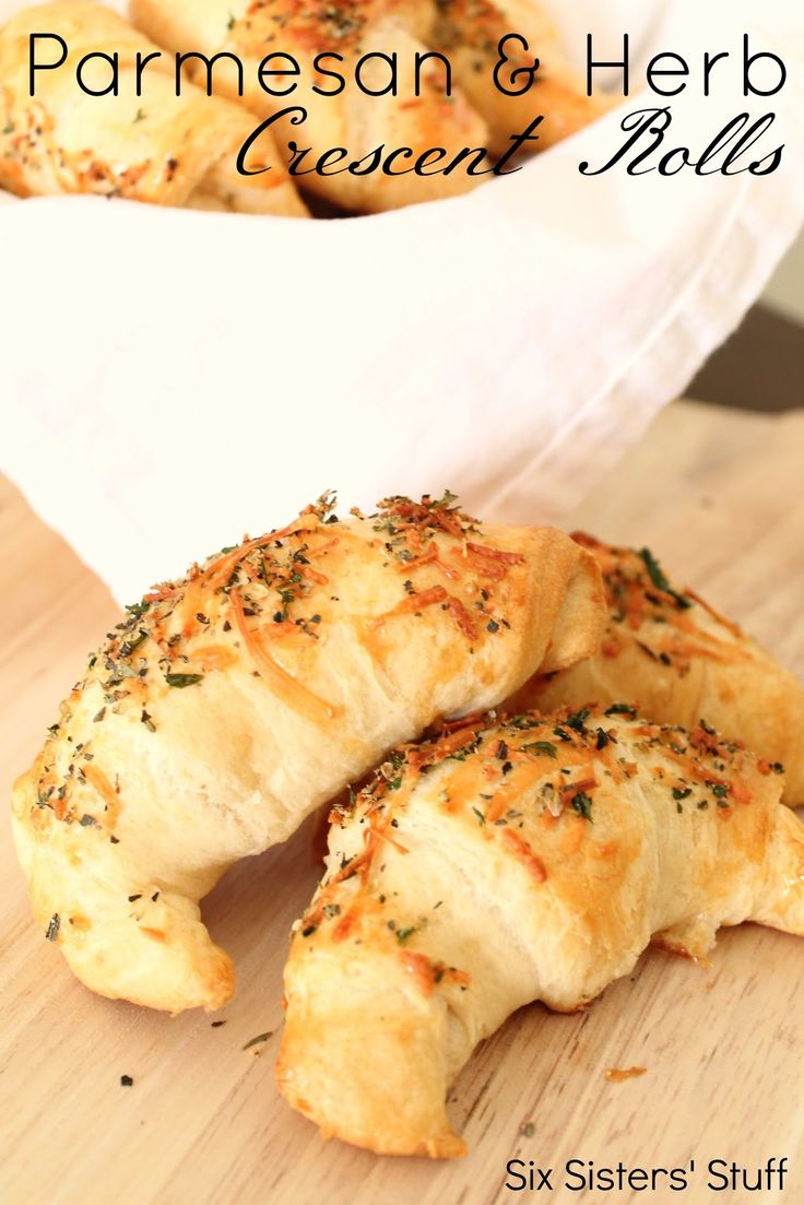 Parmesan and Herb Crescent Rolls An easy and delicious side dish to