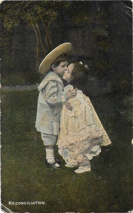 This is a Postcard that was Sent to Miss E. Margrave(?) from Auntie Herbert.