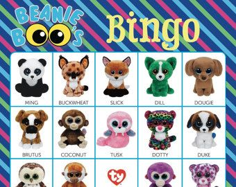 Beanie Boo Checklist Instant Download 8 x 10.5 by Bee3Shop