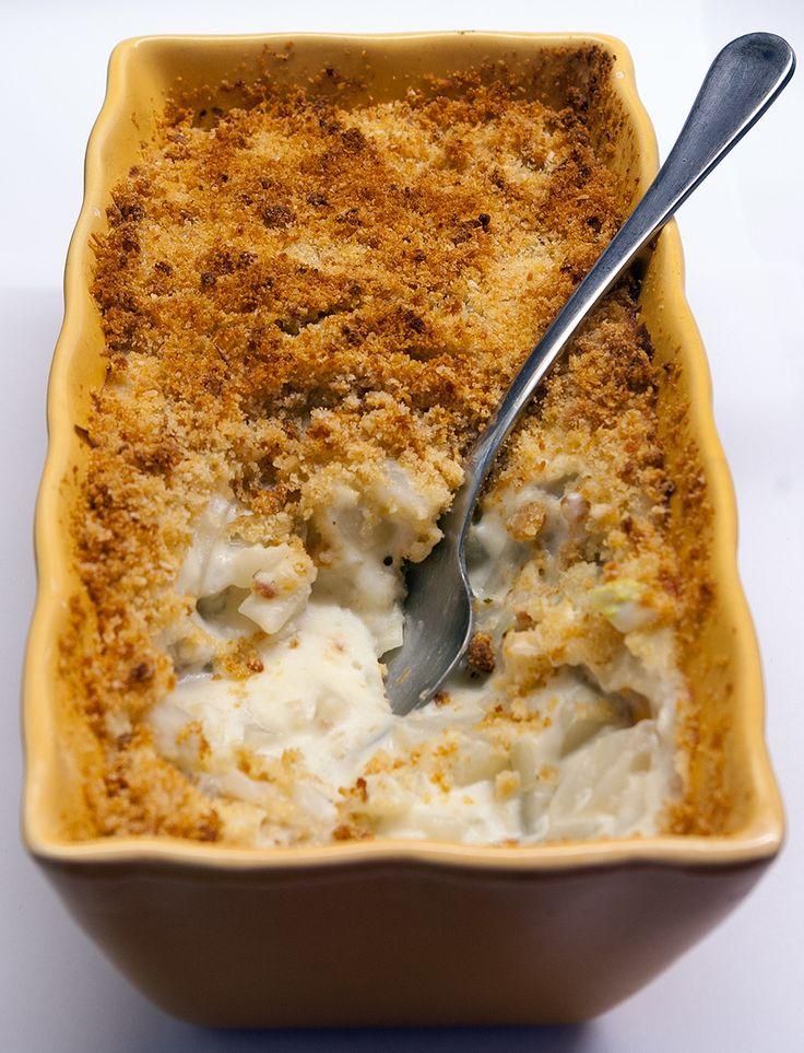 Fennel gratin with parmesan-garlic crust