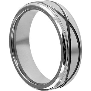 The Krypton Infinity Ring is a best selling Tungsten ring at a low price, purchase Tungsten Carbide Wedding bands from Forever Metals.