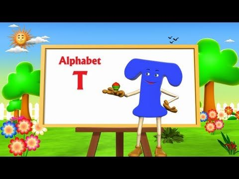 Letter T Song - 3D Animation Learning English Alphabet ABC Songs For children - YouTube