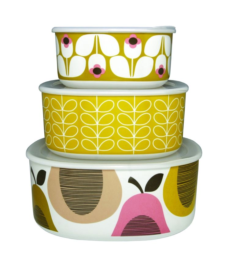 Orla Kiely storage bowls set of 3 in candy floss/lemon sorbet - Christmas in #HTFSTYLE