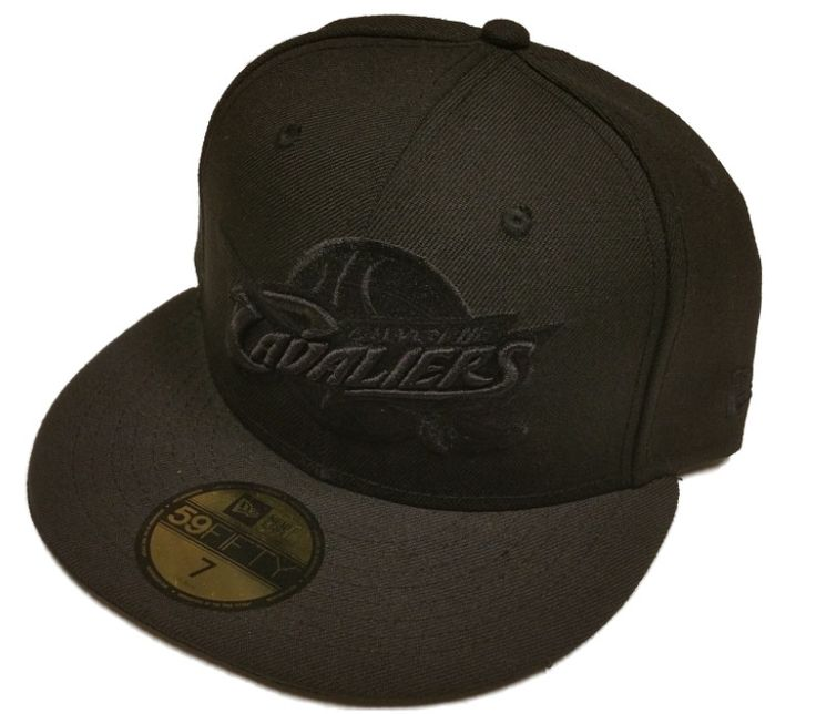 Cleveland Cavaliers Cavs New Era 59Fifty All Black Out Fitted Hat Cap (7)