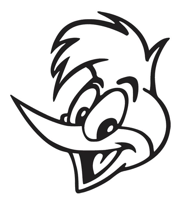Face Woody Woodpecker Coloring Page