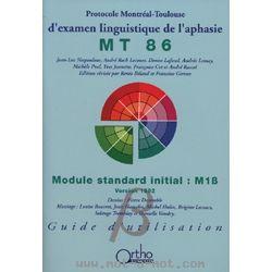 MT 86 - Protocole Montréal-Toulouse d'examen linguistique de l'aphasie