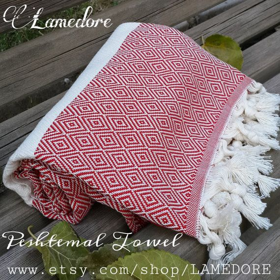 100% Cotton Peshtemal towels Traditional Turkish by LAMEDORE