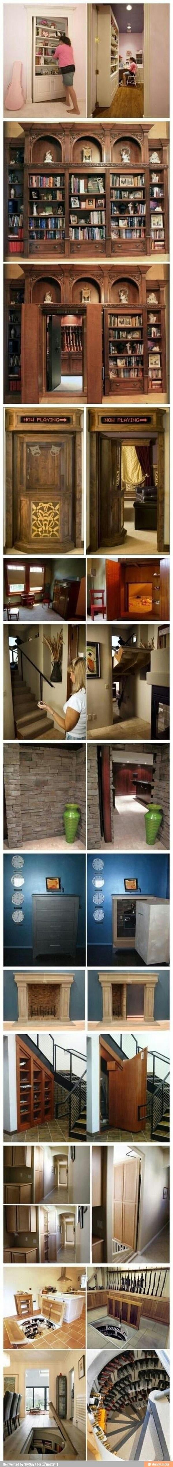 Preciso de uma passagem secreta dessas aqui em casa!