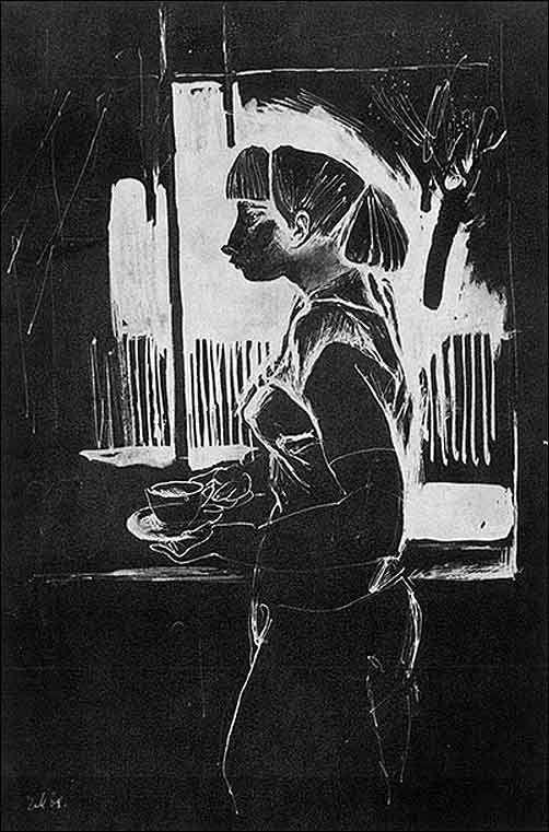 Е. Моисеенко Девушка у окна