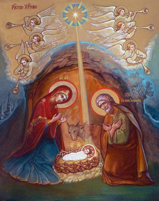 IC.XC__ Γεννηση __dec 25   ( Инна Кияткина. Рождество Христово. Икона