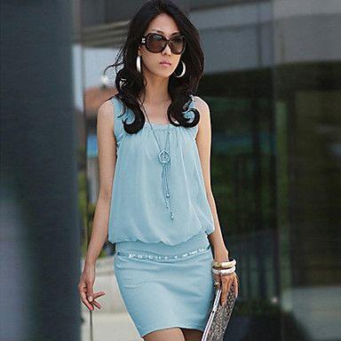 Women's Elegant Cotton Bodycon OL Fashion Dress – USD $ 14.69