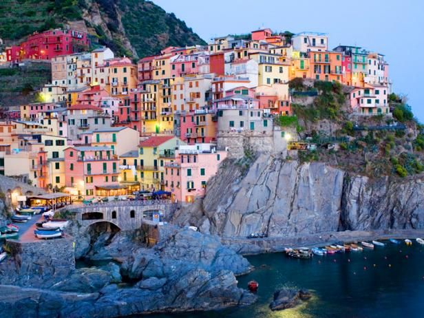 Escape to top vacation spot Italian Riviera in Manarola, Italy.