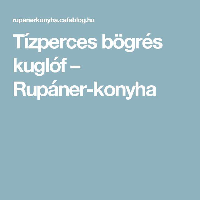 Tízperces bögrés kuglóf – Rupáner-konyha