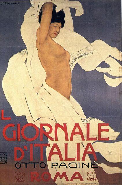 manifesto - marcello dudovich - il giornale d'italia - 1902 by sonobugiardo, via Flickr