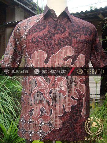 Kemeja Batik Seragam Motif Ikan Merah Kombinasi | #Indonesia Men Women #Batik Tops Shirt #Clothing http://thebatik.co.id/baju-batik/
