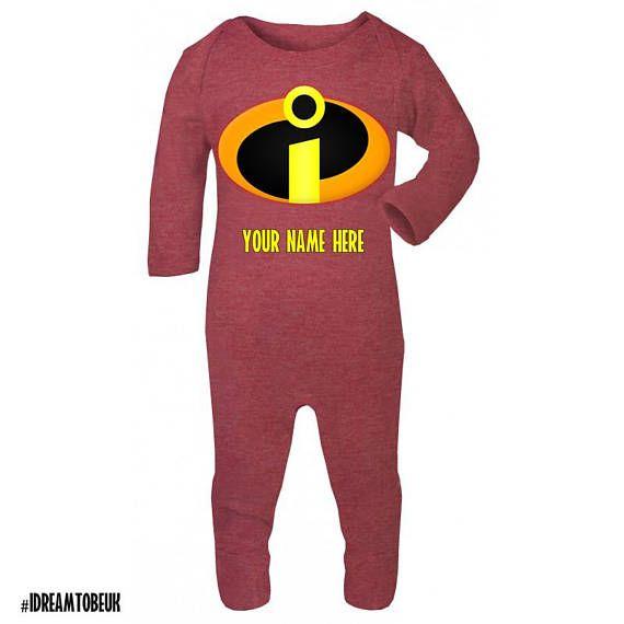 The Incredibles personalised romper sleep suit  personalised