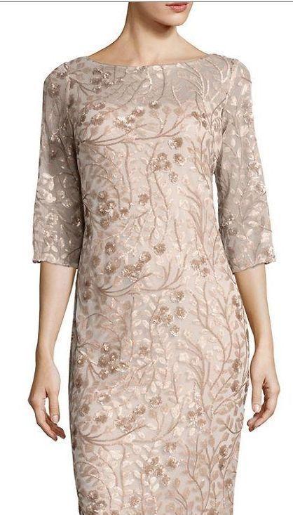 77e5eda215 NEW Calvin Klein Evening Gown 8 SEQUIN LACE Summer FLORAL MOTHER BRIDE  Formal  CalvinKlein  BallGown  Formal