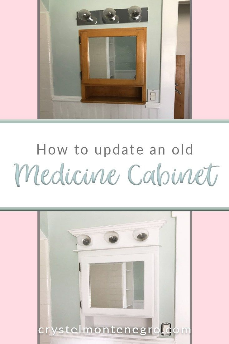how to update an old medicine cabinet bathroom ideas old rh pinterest com