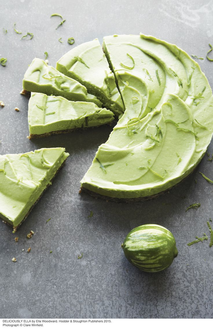 Avocado Keylime pie by Deliciously Ella - Ella Woodward.