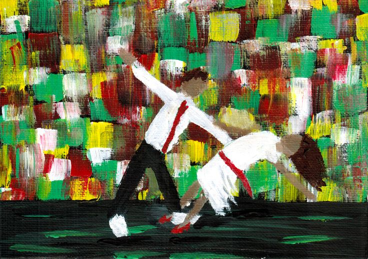 Dancing in the Spotlight - Acrylic Painting. Inspired by the film La La Land, take a look at this exciting little painting!