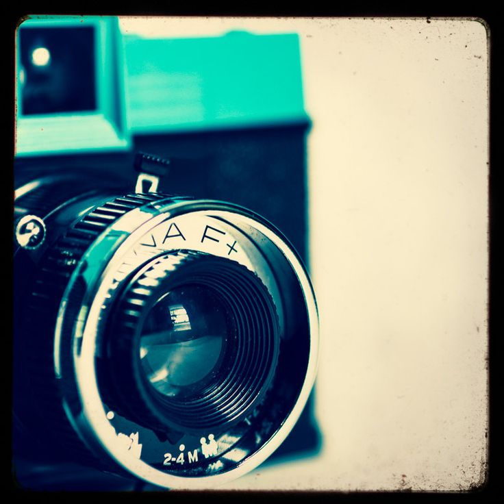 Diana Camera, Fine Art Photography, Still Life, Aqua and Black, Photographers Gift, 8x8 Print, Lomography, Modern wall art, Film Photography by Squintphotography on Etsy